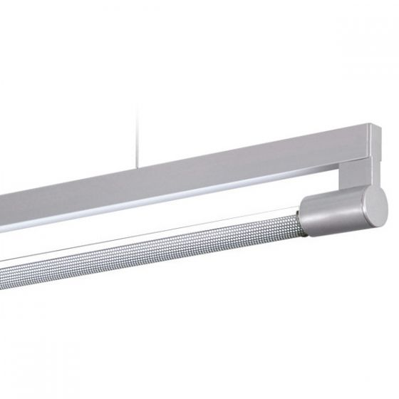 Delray 11 Series Stick T5 Fluorescent Single Lamp Rail Pendant with Perforated Diffuser