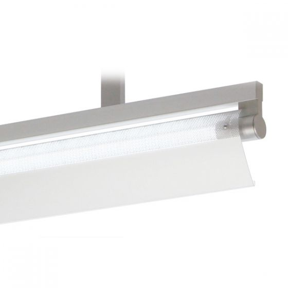 Delray 17 Series Stick T5 Single Lamp Ceiling Stem Mount Fluorescent Pendant