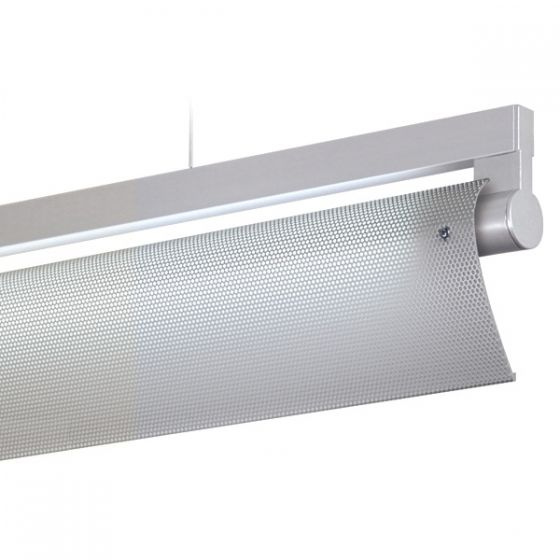 Delray 18 Series Stick T5 Fluorescent Rail Pendant Assymetric Full Perforation
