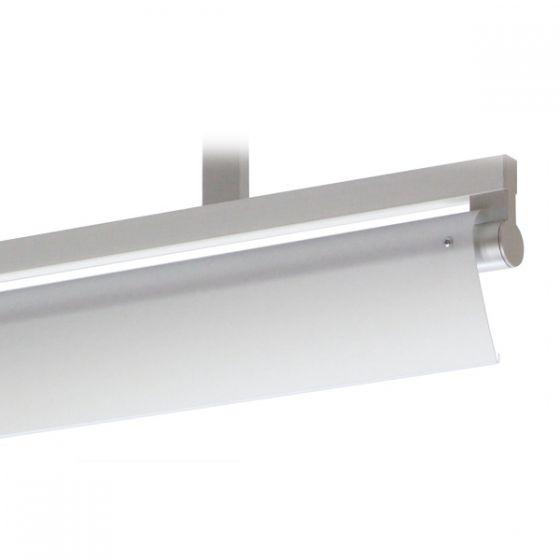 Delray 19 Series Stick T5 Single Lamp Ceiling Stem Mount Fluorescent Pendant