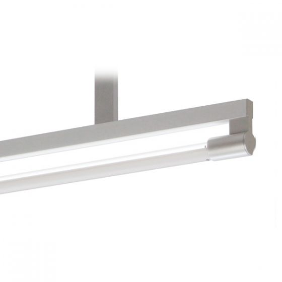 Delray 23 Series Stick T5 Single Lamp Ceiling Stem Mount Fluorescent Pendant