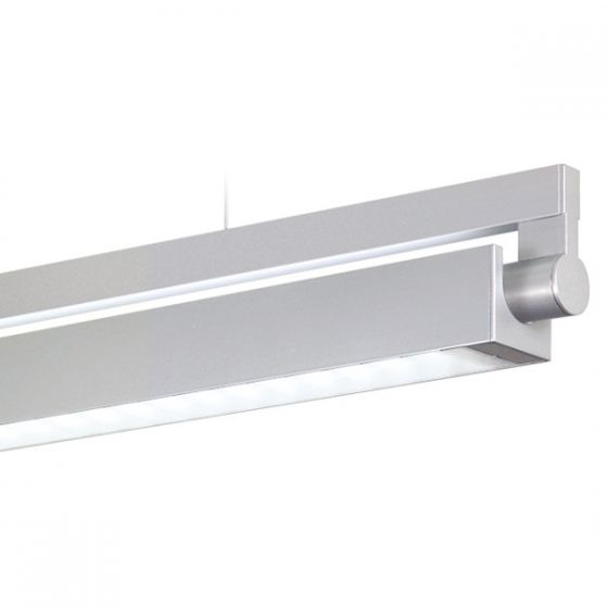 Delray 30 Series Stick T5 Fluorescent Rail Pendant Direct / Indirect Prism Lens