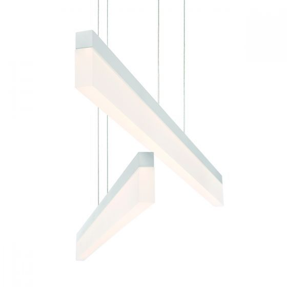Alcon Lighting 12162-WH Barra Large 46.5 Inch White Finish LED Architectural Linear Pendant