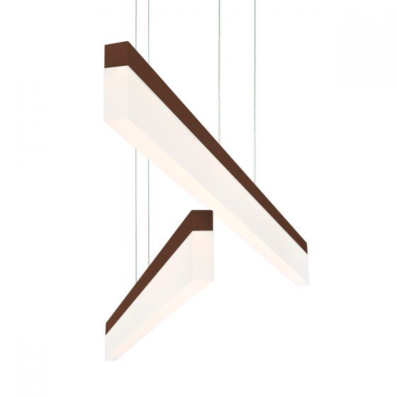 Alcon Lighting 12162-BR Barra Large 46.5 Inch Bronze Finish LED Architectural Linear Pendant