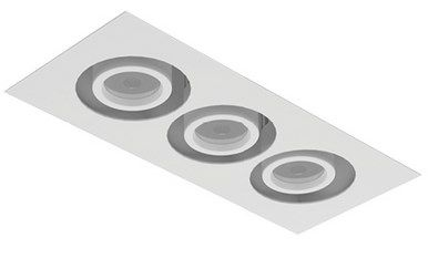 Image 1 of Intense Lighting MXFM3 MX Triple LED Recessed Lighting Multiple - 3 Light + Housing + Trim