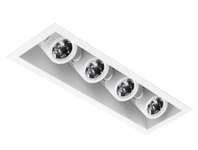 Image 1 of Intense Lighting MXRTR4 Quad LED Recessed Lighting Multiple - 4 Light + Housing + Trim