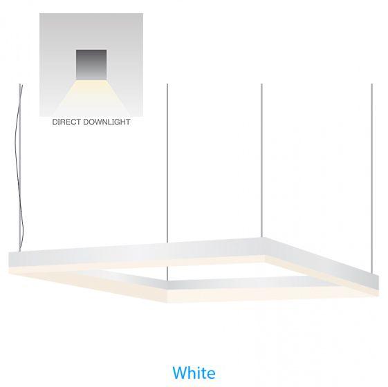 "Alcon Lighting 12100-44-P-SQ-2 Continuum 44 Architectural LED Square/Rectangle Pendant Mount Direct Light Fixture - 24"" x 24"""
