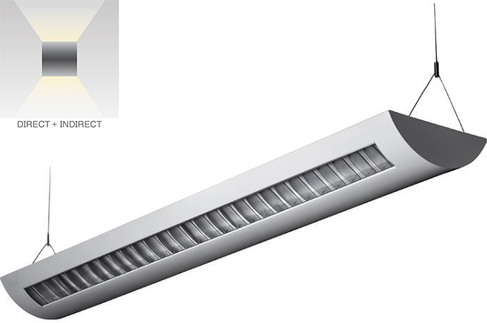 Alcon Lighting 12105-4 Delano Architectural LED Linear Pendant Lighting Direct/Indirect Fixture - 4 Foot