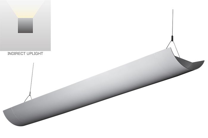 Alcon Lighting Arc 10119  Fluorescent Architectural Linear Suspended Light Fixture – Indirect Only