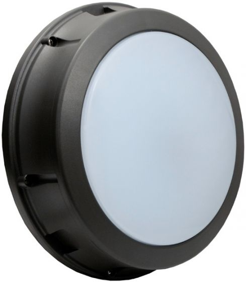 Alcon Lighting 11231 Optic 14 Inch Architectural LED Wallpack Round Outdoor Vandal Proof Luminaire