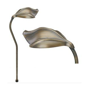 Image 1 of Alcon Lighting 9075 Aspen Solid Brass Low Voltage LED Architectural Landscape Path Light Fixture