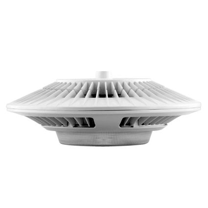 Image 1 of RAB GPLED78YW 78 Watt LED Garage Pendant Light in White with Prismatic Lens Warm White