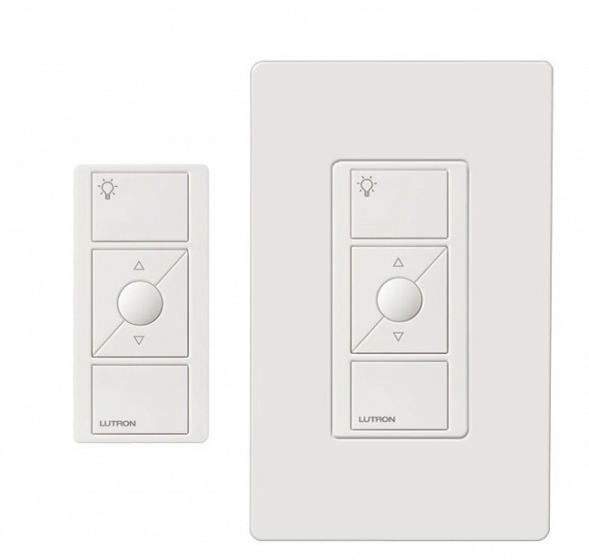 Image 1 of Lutron Caseta P-PKG1W-WH In-Wall Dimmer and Pico Remote