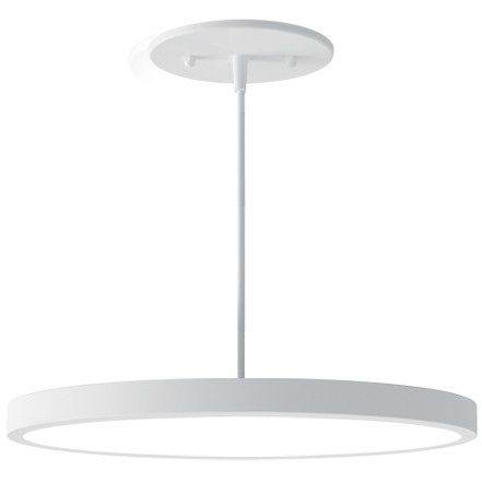 Alcon Lighting 12182-12 Disk Architectural LED 12 Inch Round Pendant Mount Direct Down Light Fixture