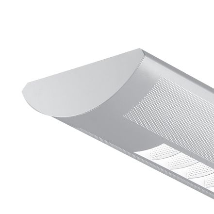 Finelite Series 8 Perforated with Windows Fluorescent Drop Fixture Pendant T8 S8-PW