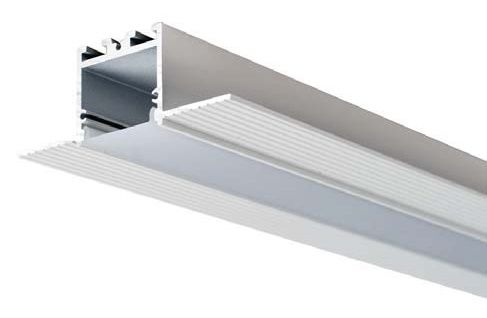 Alcon Lighting 14005-RGBW Continuum 10 Architectural LED 1 Inch Trimless Linear Recessed Mount Direct Down Light RGB-W Color Changing Fixture