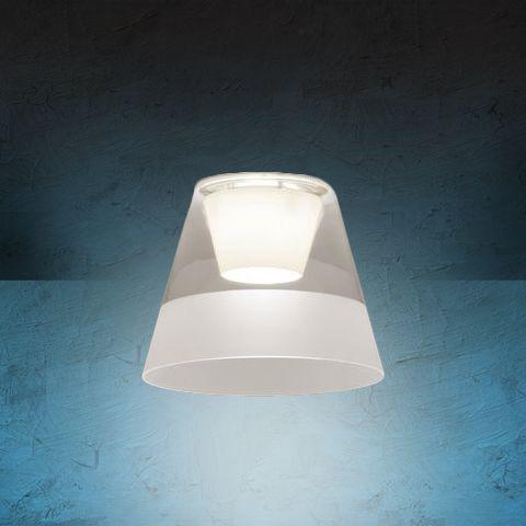 Image 1 of Alcon Lighting 14024 Bunbury Series Semi-Recessed 13 Inch LED Handblown Opal Glass Downlight