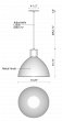 Alcon Lighting 12259 Doma II Architectural LED Contemporary 9 Inch Dome Pendant Mount Direct Down Light Fixture