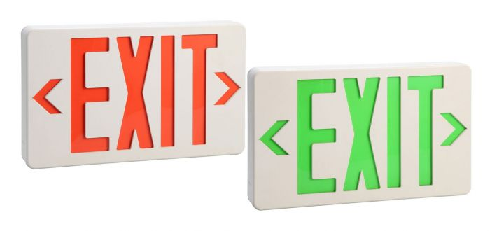 Image 1 of Alcon Lighting 16106 EMEXTH Architectural LED Thin Thermoplastic Emergency Exit Sign