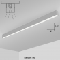 Alcon Lighting 12200-2-S-8 RFT Series Architectural LED 8 Foot Linear Surface Mount Direct Light Fixture