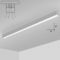 Alcon Lighting 11139-8-S i66 Series Architectural LED 8 Foot Linear Surface Mount Direct Light Fixture