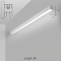 Alcon Lighting 11141-8-W i44 Series Architectural LED 8 Foot Linear Wall Mount Direct Light Fixture
