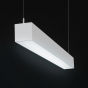 Alcon Lighting 12100-44-P Continuum 44 Series Architectural LED Linear Pendant Mount Direct Down Light Fixture
