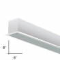 Alcon Lighting 12100-66-R-8 Continuum 66 Series Architectural LED Linear Recessed Direct Light Fixture - 8 Foot