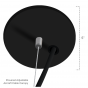 Black finish fixture comes with Black finish canopies.