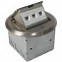 Orbit FLBPU-L-R Tamper Resistant Floor Box Pop-Up with Low Voltage RJ45 Data, Round Cover