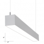Alcon Lighting 22200-6-P-4 RFT Series Architectural LED 4 Foot Linear Suspended Pendant Mount Direct Light Fixture - White - 4000K - 4200 Lumens - Non-Dimmable