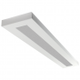 LSI Industries HRZ-4-FL LiniArc Horizon Housing Frosted Acrylic Lens Fluorescent Suspended Light Fixture - Direct/Indirect - 4 FT