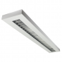 LSI Industries HRZ-4-RPL LiniArc Horizon Housing Parabolic Louver Fluorescent Suspended Light Fixture - Direct/Indirect - 4 FT