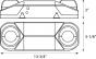 Alcon Lighting 16101 Polo Architectural LED Dual Head Semi-Recessed MR16 Emergency Unit