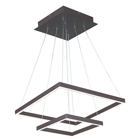 Image 1 of ET2 Quad LED 2-Tier Square Pendant