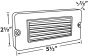 Alcon Lighting 9089 Slate Architectural LED Cast Brass Step Light
