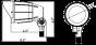Image 2 of MaxLite BF12AUDW30B000 12 Watt Bullet LED Flood Landscaping Light