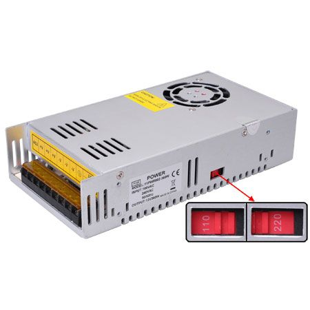 Image 1 of 360 Watt 12 Volt Regulated DC Switching Power Supply for LED Strip Lights 11PWR002-360W