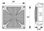 Image 2 of Alcon Lighting 16003 Talos Architectural LED 10 Inch Square Canopy Surface Mount Outdoor Direct Light Fixture