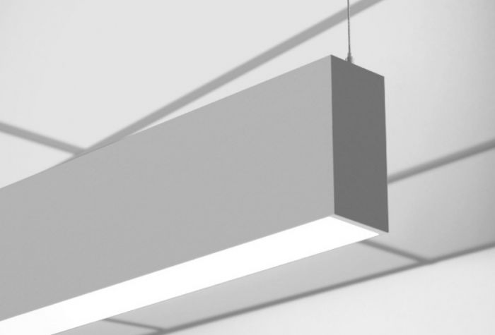 "Image 1 of Finelite HP-2 ID High Performance 2"" Aperture Direct/Indirect LED Suspension Lighting Fixture"