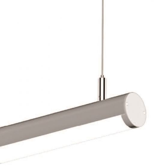 Alcon Lighting 12117-1 Tubob I Architectural 1 Inch LED Linear Channel Pendant Mount Direct Down Light Fixture