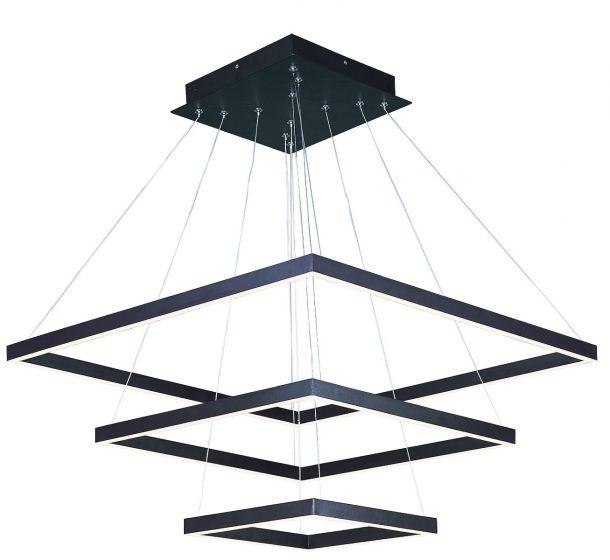 Image 1 of ET2 Quad LED 3-Tier Square Pendant