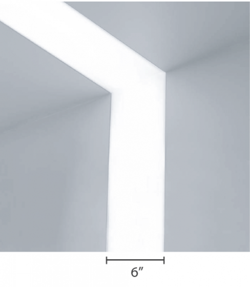 Alcon Lighting 14100-6 Continuum VI Architectural LED 6 Inch Linear Recessed Ceiling to Wall Light Strip Fixture