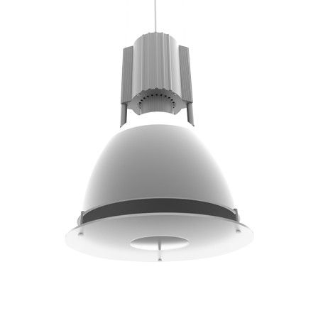 Alcon Lighting 15205-3 Alta Architectural Commercial LED 18 Inch Round Low Bay Pendant Mount Direct Down Light Fixture