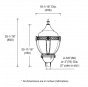 Image 3 of Alcon Lighting 11404 Basilica Architectural LED Post Top Light Fixture