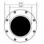 Image 3 of Alcon Lighting 9042 Fiata Architectural Marine LED 7 Inch In-Ground Fiberglass Well Light - 120V~277V