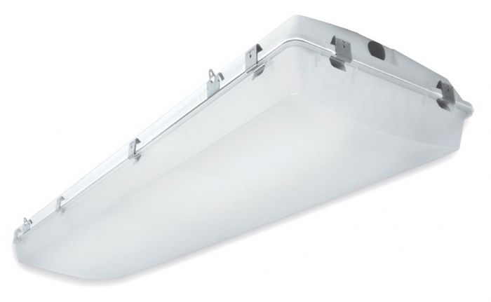 Alcon Lighting 15220-4 VPT II Commercial LED 4 Foot High Impact Vapor Tight Gasket Surface Mount Direct Down Light Fixture
