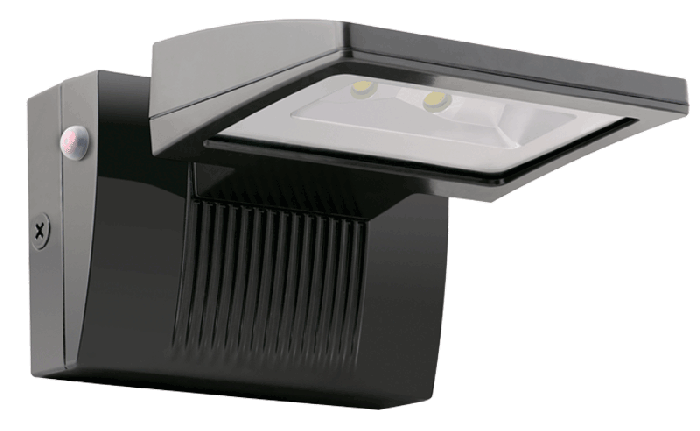 RAB LED 26 Watt 3000K Warm White LED Wall Pack with Emergency Battery Backup
