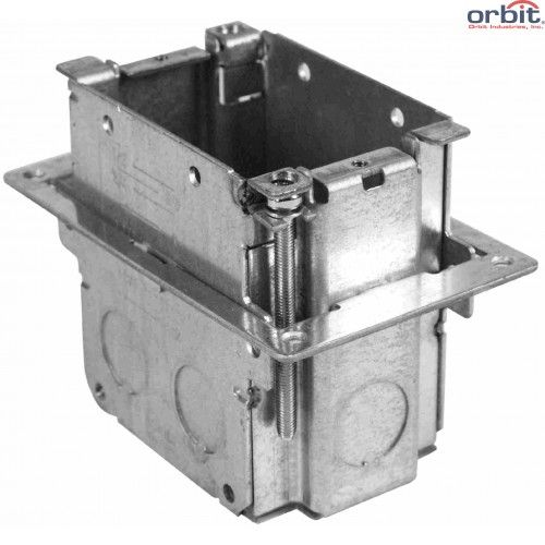 Orbit 1-Gang Adjustable Electrical Floor Box Only (from 0 to 2 Inches)