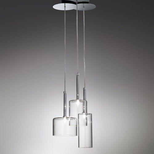 spillray 3 light led cluster pendant alcon lighting